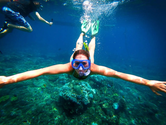 Snorkelling off Koh Lipe