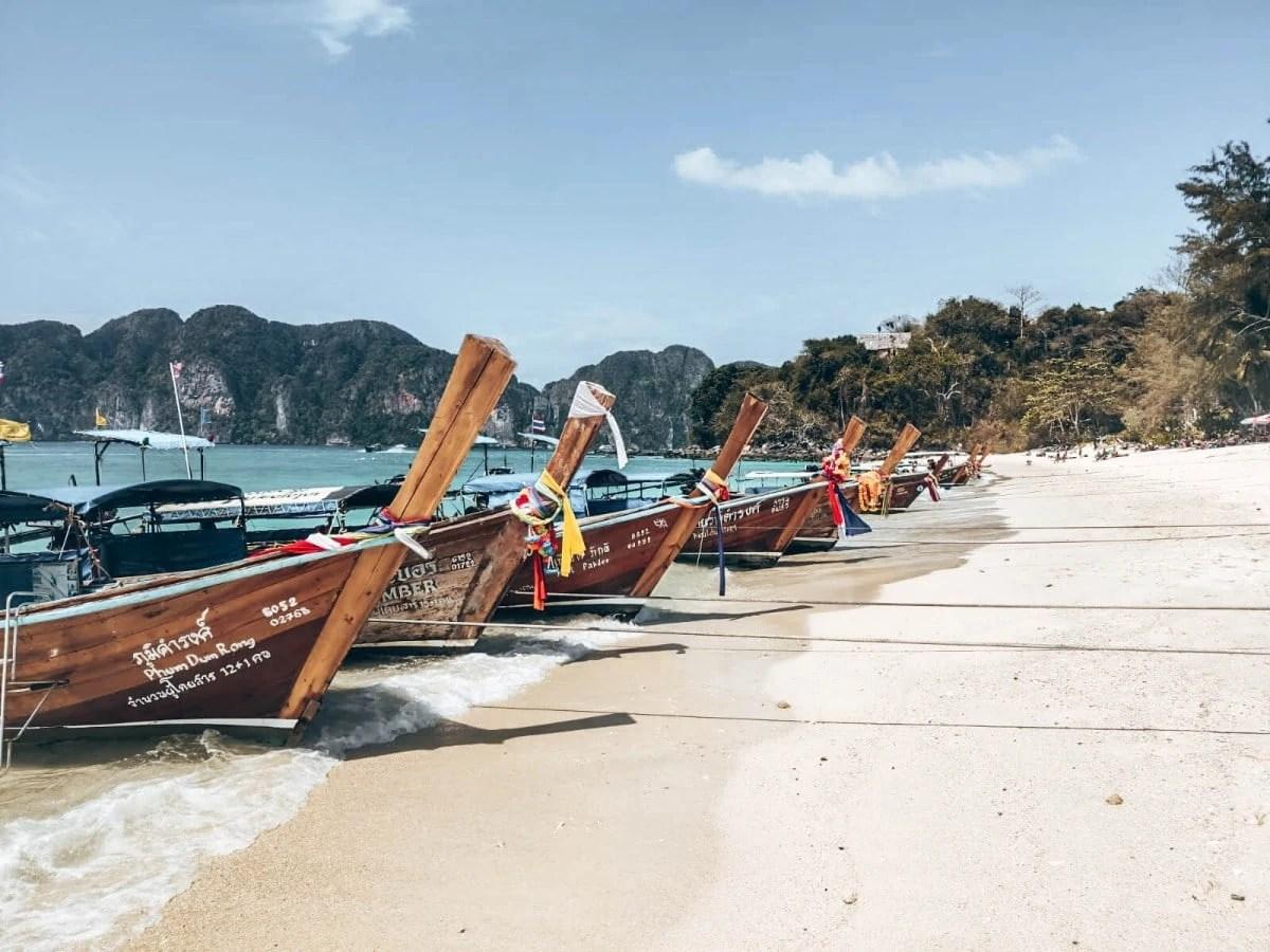 Longtail Boats Tonsai Phi Phi