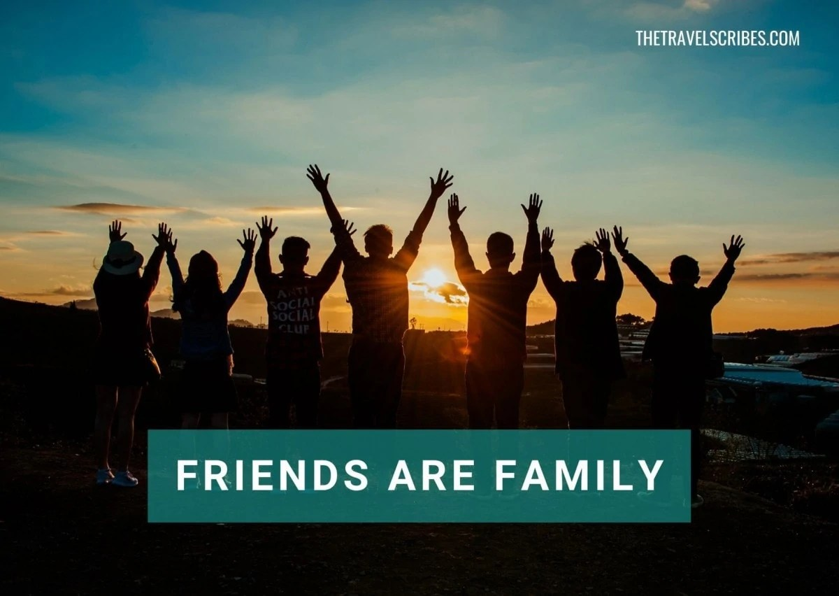 Caption for friends as family