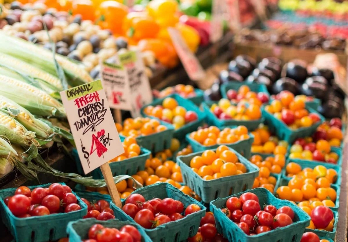 Go to the farmers market in Seaside Florida