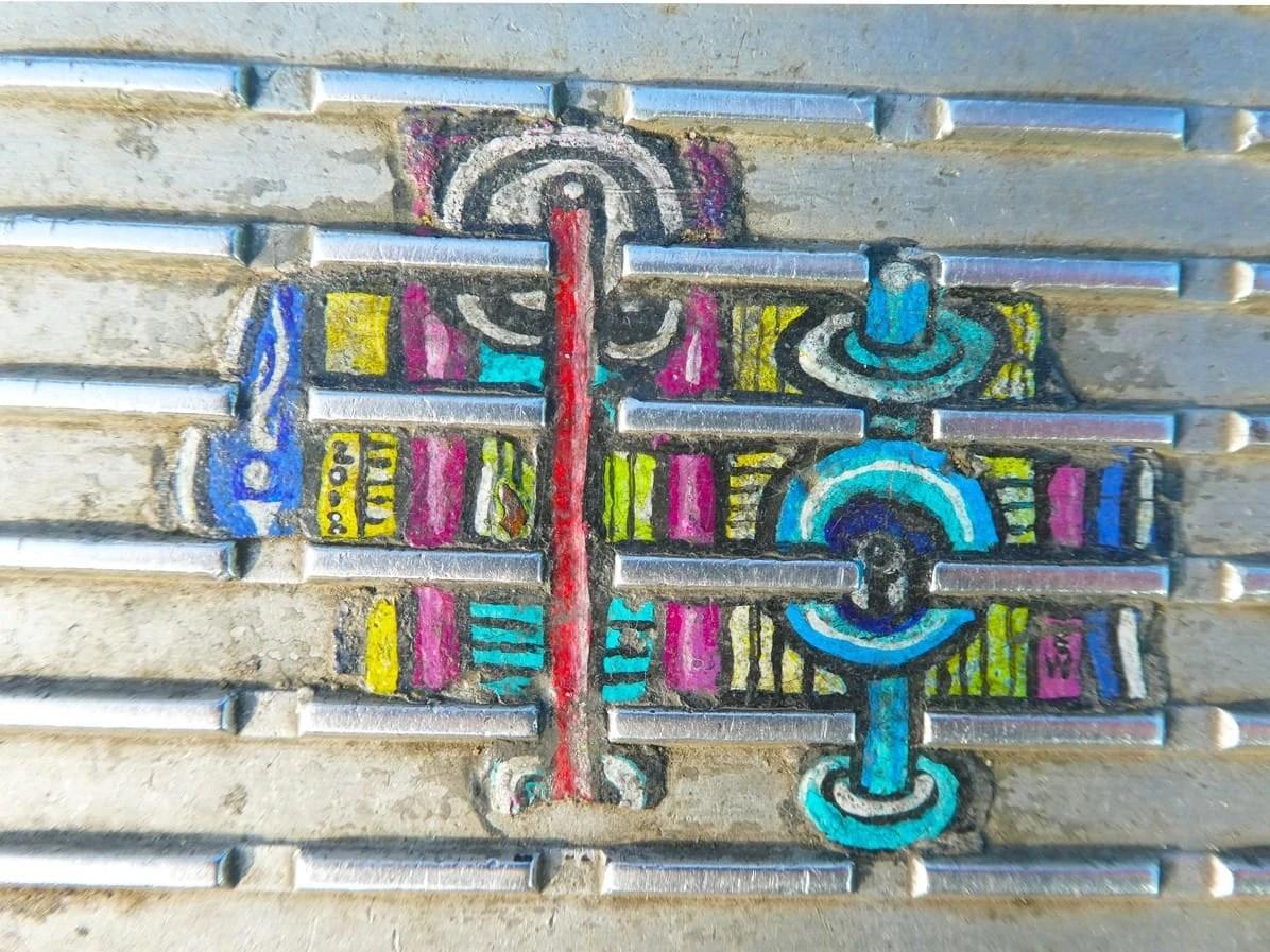 Hidden Gems in London - Millennium Bridge paintings