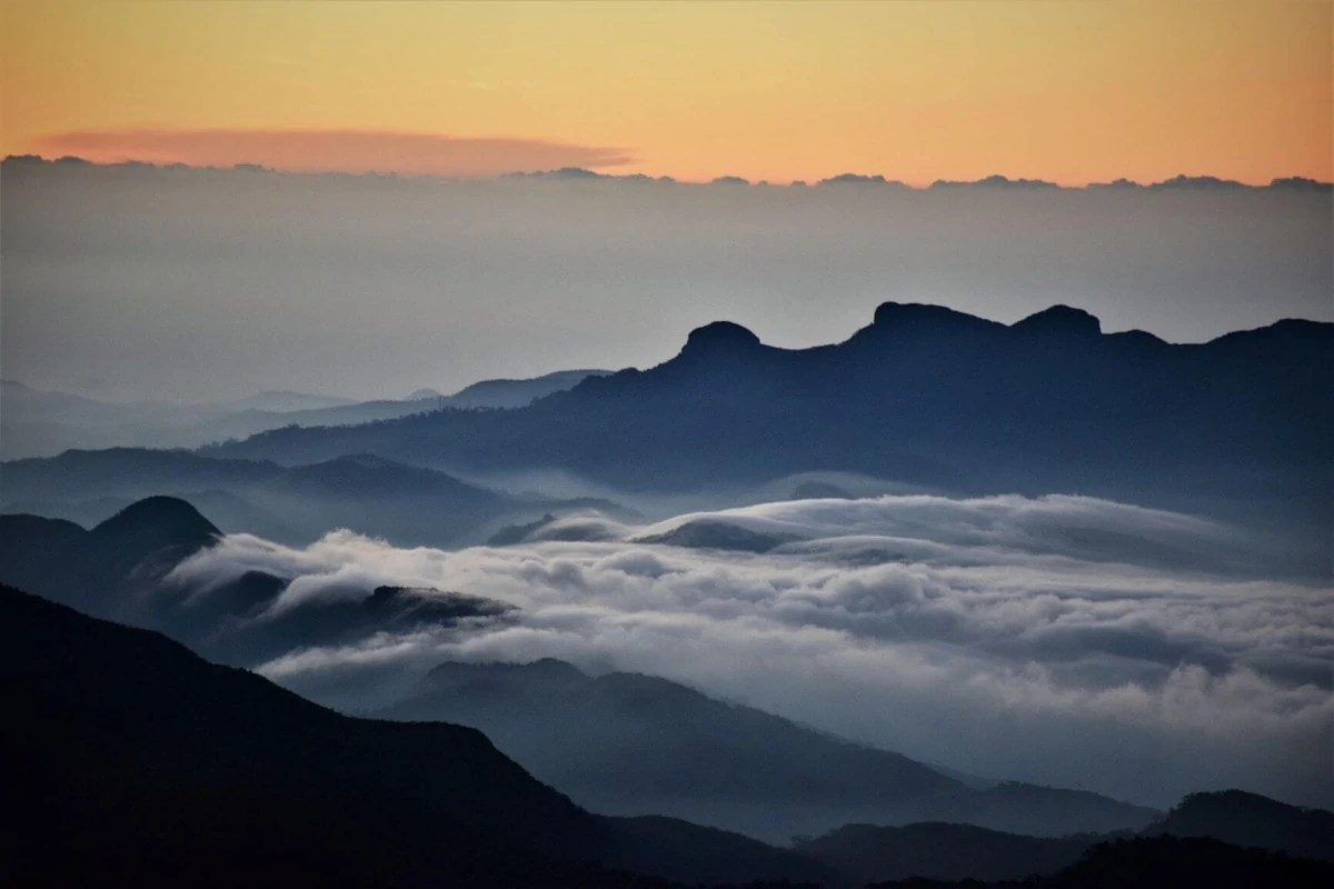 View from Adams Peak Sri Lanka