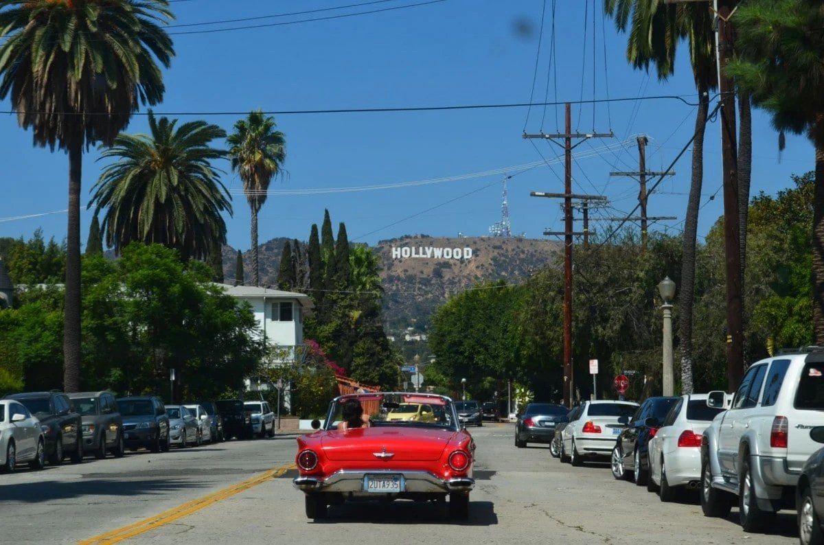 Landmarks USA - Hollywood Sign in Los Angeles