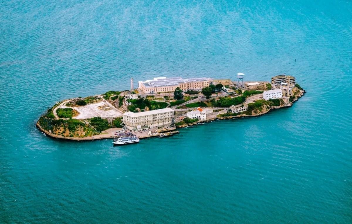 Landmarks in America - Alcatraz the prison in San Francisco