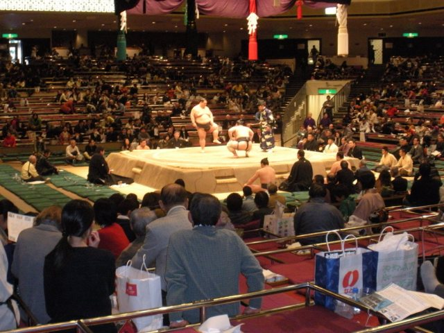 seats for sumo wrestling match tokyo japan
