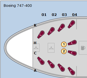united 747 first class seat configuration