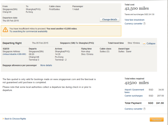 how to book singapore airline suites with krisflyer miles