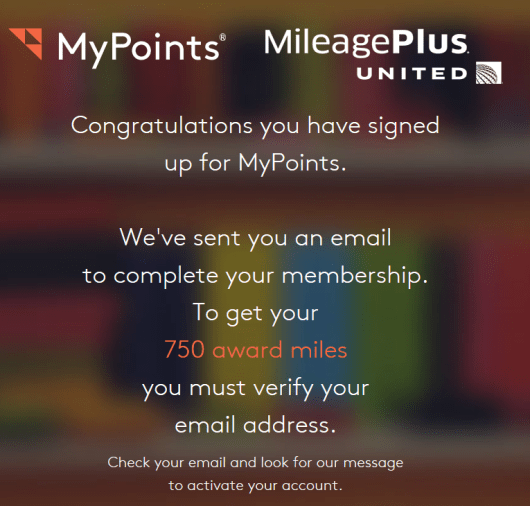 earn 1750 United miles with MyPoints