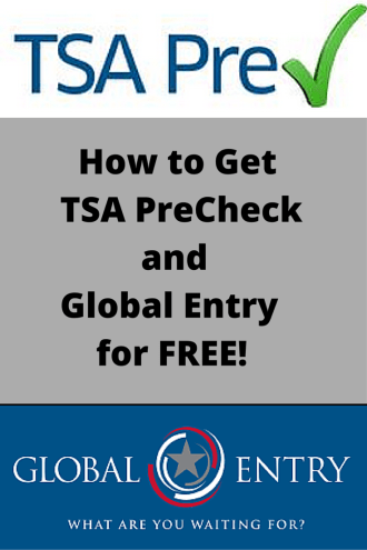 How to Get TSA Precheck and Global Entry for Free