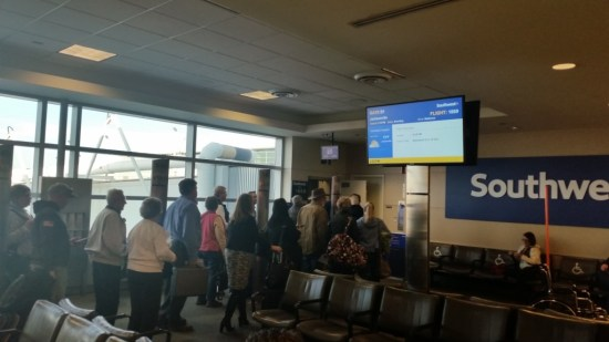 Does Southwest have First Class? No. All seats are economy and Southwest boarding process is first come first serve.