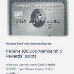 Amex Platinum 100K: Great Sign Up Bonus!