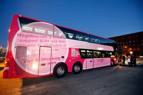 Megabus.com and Breast Cancer Research Foundation Partnership Announcement