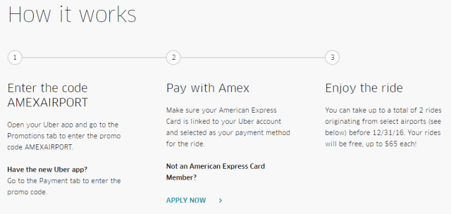 american express uber free airport rides 2016