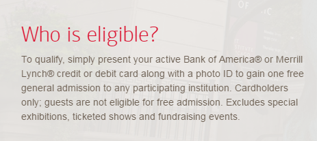 bank of america free museums on us 2018 dates