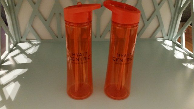 Hyatt Centric Hawaii reuseable water bottles