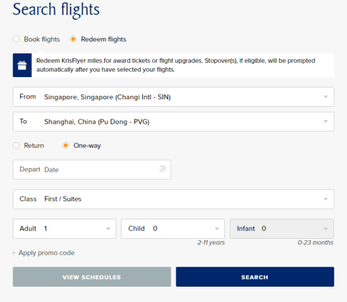 how to book singapore airline suites with miles