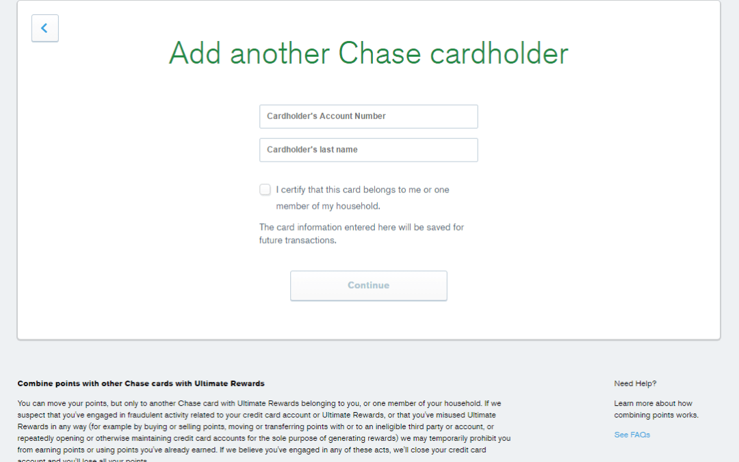 Can You Transfer Chase Ultimate Rewards Points to Another Person?