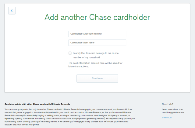 How To Transfer Chase Ultimate Rewards Points to another person