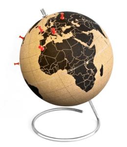 SUCK UK Mini Cork Globe is a great present for traveller