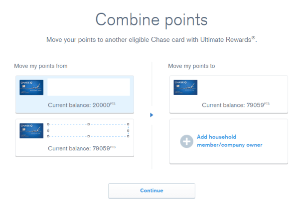can you transfer chase ultimate rewards points to another person