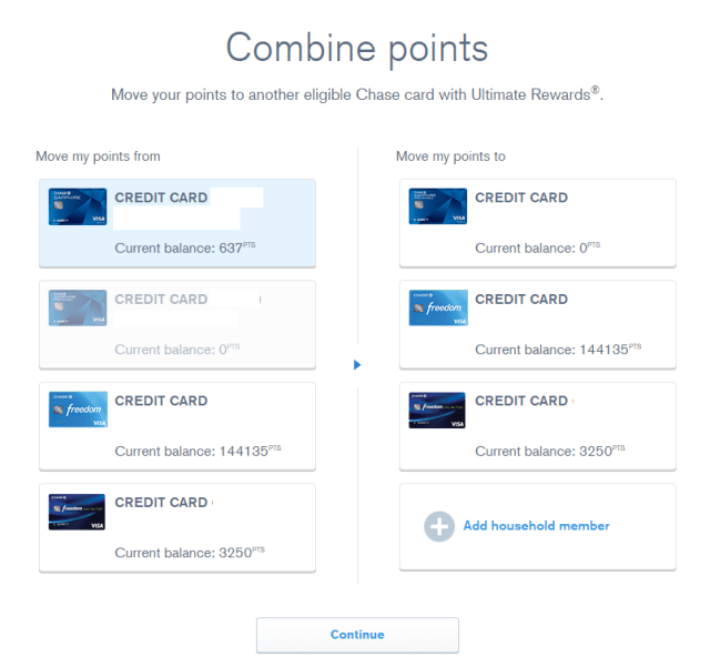 How To Transfer Chase Ultimate Rewards Points between accounts