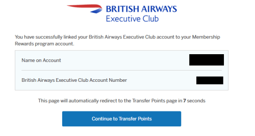 how to Transfer amex membership rewards points to avios
