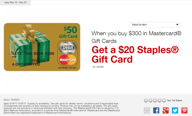 staples easy rebates mastercard march 2017