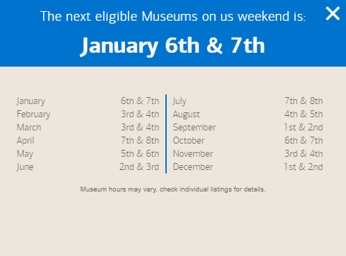 bank of america free museum days 2018 museums on us