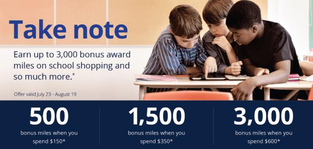 bonus miles back to school united mileage plus online shopping portal 3000 bonus miles