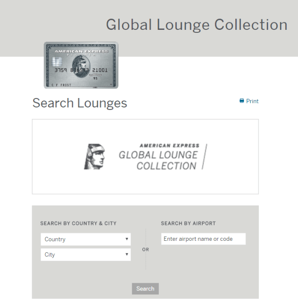 american express platinum card lounges