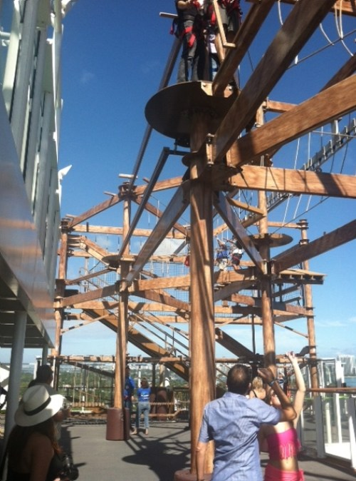 ropes course on Norwegian Getaway