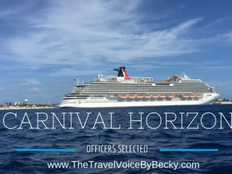 Carnival Horizon officers blog image