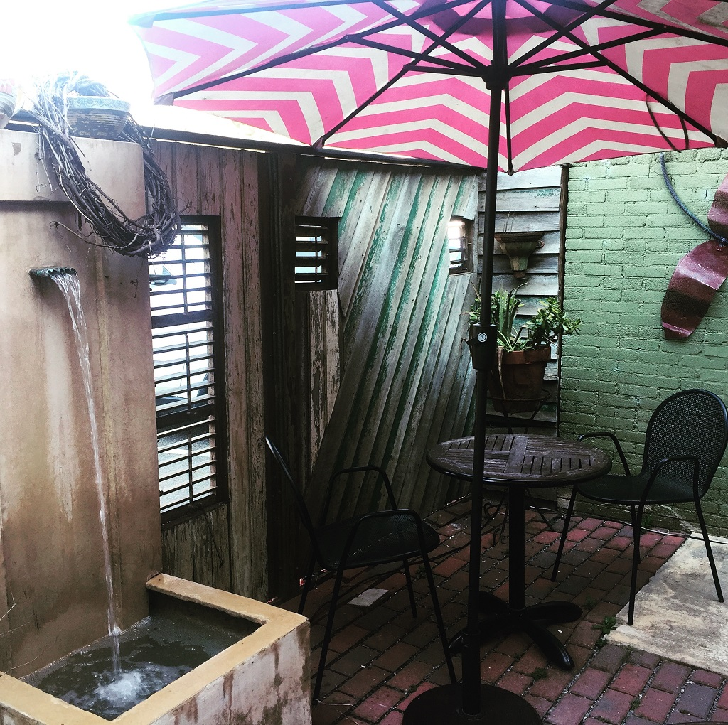Incredible things to do in Ellijay, GA - Back patio at Ellijay Coffeehouse