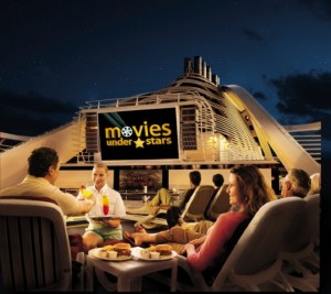 What's better than a quiet evening under the stars watching a movie on the big screen? Not much! Photo courtesy of Princess.
