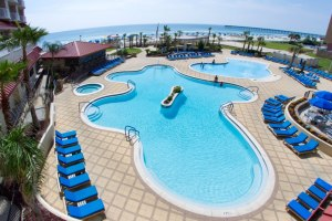 Beautiful Hilton Gulf Front Hotel in Pensacola, Florida. Photo courtesy of Hilton Pensacola Beach Gulf Front.