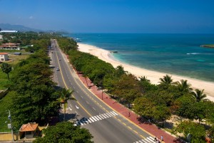 Looking along the Malecon, Puerto Plata.