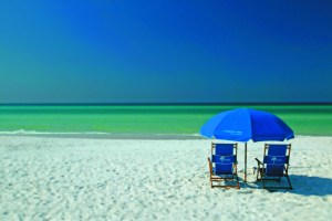 Sugar-white sands and emerald green waters in Beaches of South Walton