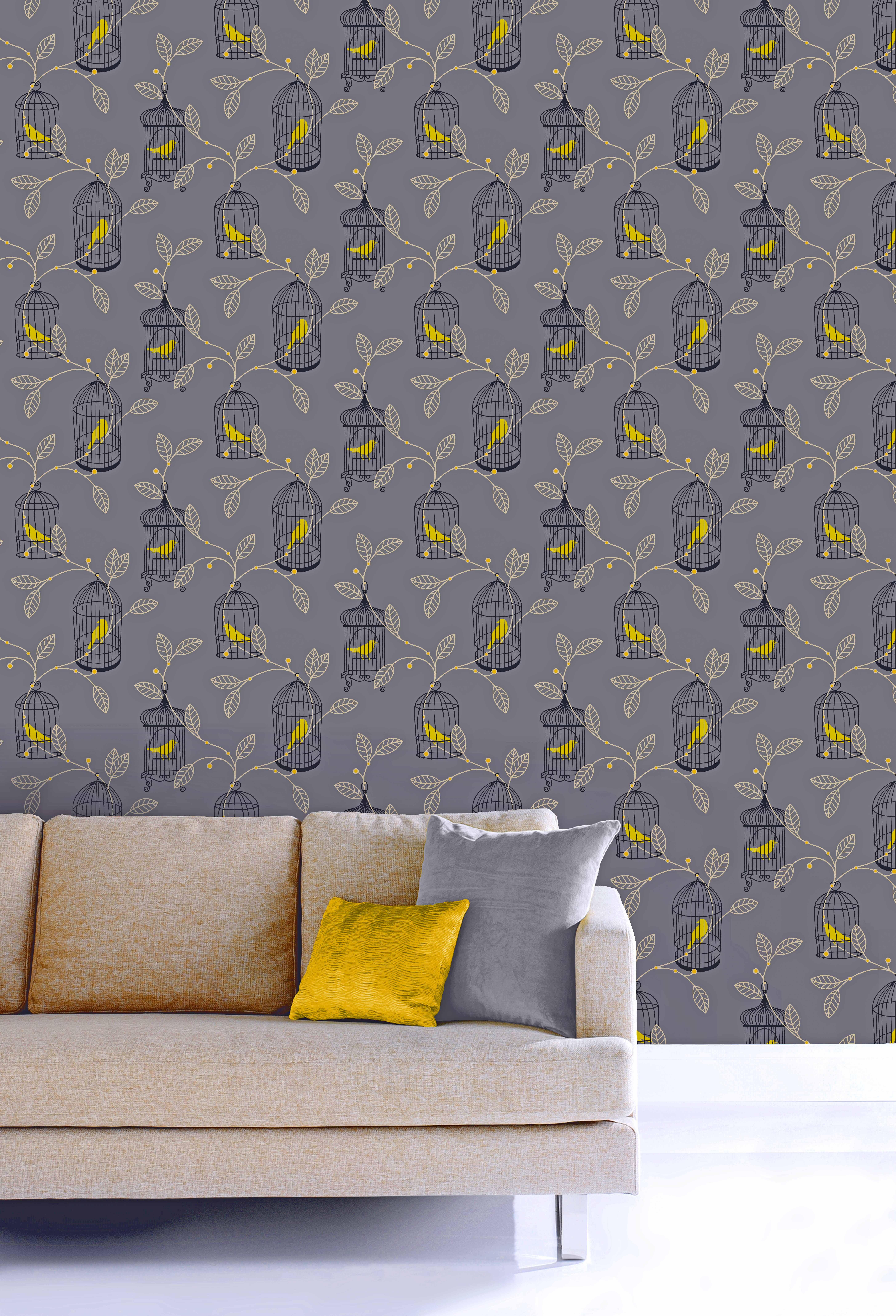 Birdcage Wallpaper The Treasure Hunter Well Designed