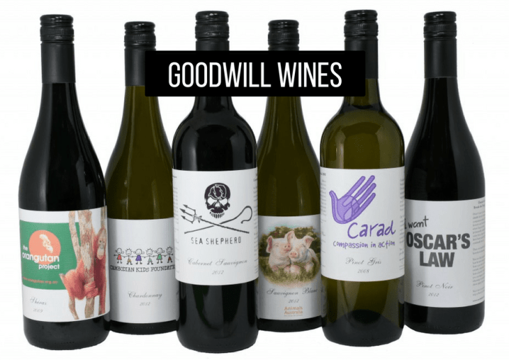 Goodwill vegan wines Australia