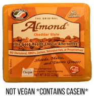 almond cheese not vegan