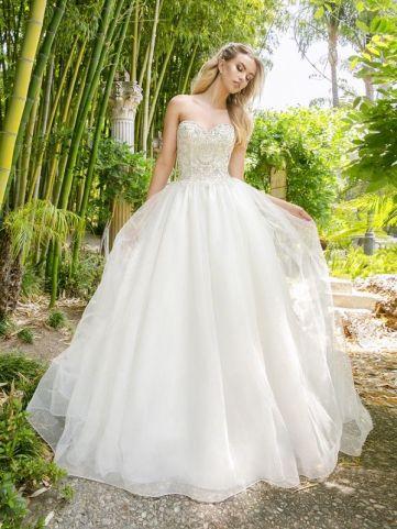 Moonlight vegan silk-free wedding dress H1340