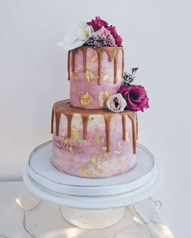 Vic's Vegan Bakes strawberries and cream wedding cake