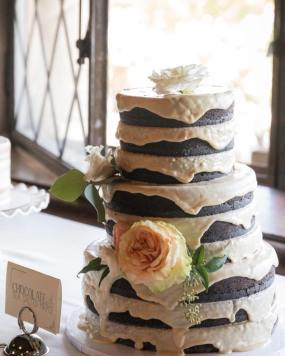 fox and fawn vegan chocolate sea salt maple wedding cake