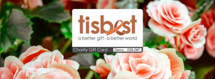 tisbest charity gift card wedding favor animal rescue