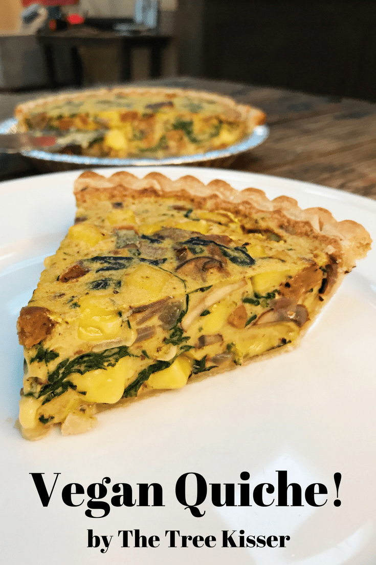 Vegan Quiche with follow your heart veganegg egg!