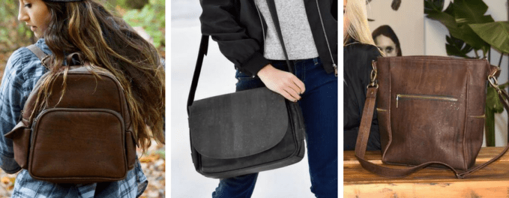 eve cork vegan messenger bags backpack