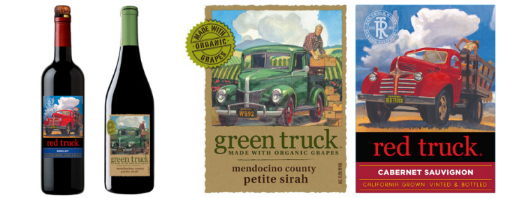 vegan wines green truck red truck