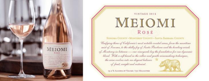 vegan wines rosé meiomi