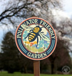 pollinator-friendly garden sign