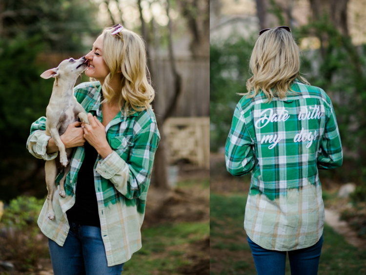 the tree kisser my other half date with my dogs flannel vintage
